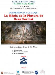 Cartell Magia de la pintura de gran format